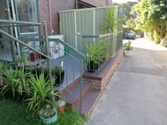 The storage shed on the rear terrace of the Mount Eliza home unit/apartment for sale.