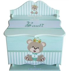 Kit Bebe, Baby Box, Toy Boxes, Ideas Para, Toy Chest, Storage Chest, Decoupage, Toddler Bed, Bird