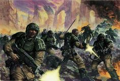 The Imperial Guard... because they have numbers.