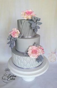 Marble wedding cake by Zaklina country chocolat mariage cake cake country cake recipes cake simple cake vintage Fondant Wedding Cakes, Wedding Cake Roses, Cool Wedding Cakes, Elegant Wedding Cakes, Elegant Cakes, Beautiful Wedding Cakes, Wedding Cake Designs, Fondant Cakes, Wedding Cake Toppers