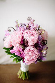 Peony Flower Arrangements, Wedding Flowers Photos by Instincts Design Studio, Ltd Small Wedding Bouquets, Peony Bouquet Wedding, Bride Bouquets, Floral Wedding, Wedding Flowers, Boquet, Wedding Dresses, Peony Flower Arrangements, Vintage Country Weddings