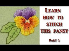 Hand Embroidery - Silk Shading - Long & Short stitch - Pansy Part 1 - YouTube