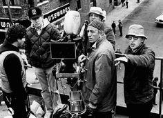 Woody Allen e Carlo De Palma sul set di Radio Days
