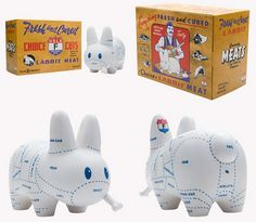 Kidrobot  Labbit Classics Blind Box Mini Series Leotard Hot Dog Labbit NEW