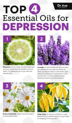 Top four essential oils for depression - Dr. Axe www.draxe.com #health #holistic #natural by iris-flower