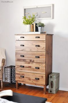Ikea Hack: Learn how to create a rustic dresser with this easy to follow tutorial on how to stain an Ikea Tarva Dresser with just a few supplies.