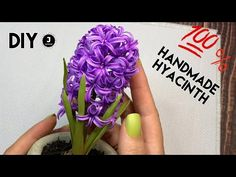DIY. 🌸Handmade Hyacinth. МК Реалистичный Гиацинт из фоамирана. - YouTube Paper Flowers Craft, Flower Crafts, Flower Stamen, Spring Bulbs, Polymer Clay Flowers, Paper Quilling, Handmade Flowers, Artificial Flowers, Flower Power