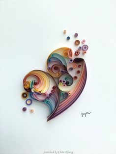 Unknown artist - Quilled hearts pictures(Searched by Châu Khang)