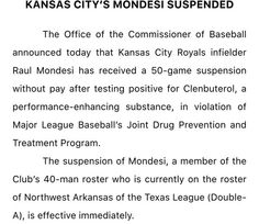 Here's your MLB PED suspension ...  5/10/2016
