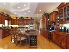 The cherry wood in this gourmet kitchen is gorgeous.
