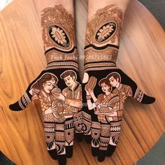 Full Hand Mehndi Designs for Karwa Chauth Images of beautiful & simple henna designs which are trending and hot this season! Latest Bridal Mehndi Designs, Full Hand Mehndi Designs, Stylish Mehndi Designs, Mehndi Design Photos, Wedding Mehndi Designs, Beautiful Henna Designs, Dulhan Mehndi Designs, Mehndi Art Designs, Mehndi Images