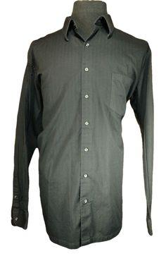 J Ferrar Casual Shirt Mens 2XLT Tall Black Long Sleeve Pointed Collar Cotton #JFerrar #ButtonFront