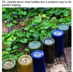 Upside down wine bottles