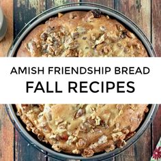There's a hint of a chill and we're breaking out our favorite fall Amish Friendship Bread recipes to keep you warm and toasty! Try this Tuscan-inspired Amish Friendship Bread Coffee Cake this weekend! Friendship Cake, Friendship Bread Recipe, Friendship Bread Starter, Amish Friendship Bread, Amish Bread Recipes, Dutch Recipes, Baking Recipes, Fermentation Recipes, Bread Baking