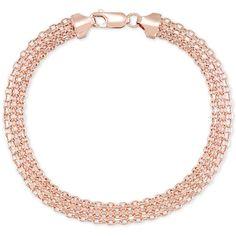 Polished Bismark Link Bracelet in 14k Rose Gold ($1,100) ❤ liked on Polyvore featuring jewelry, bracelets, rose gold, 14k jewelry, rose gold jewelry, polish jewelry, 14k rose gold jewelry and pink gold jewelry