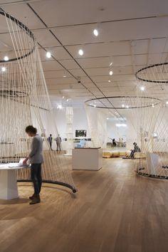 'Building: Inside Studio Gang Architects' Exhibition sub espacio hilo tension