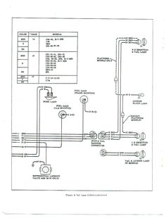 electric: wiring diagram - chassis & tail lamp | '60s ... 1970 chevy c10 wiring diagram alternator