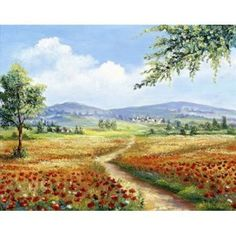 Posterazzi Red poppies field Canvas Art - Rian Withaar (24 x 30)