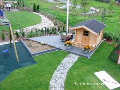 Kotihiiri Varvikossa: elokuu 2012 Garden Kids, Kids House, Garden Planning, Playground, Outdoor Living, Golf Courses, Backyard, Cottage, Flowers