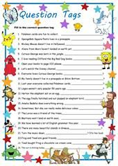 QUESTION TAGS worksheet - Free ESL printable worksheets made by teachers