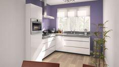 3D keukenontwerp hoekkeuken