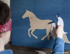 Denim Canvas Pin the Tail DIY