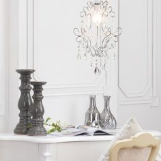 Madonna Easy Fit Chrome Pendant Shade from Litecraft