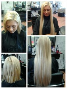 Before and After. Hair Extensions by Jen.