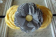 Cute headband idea.