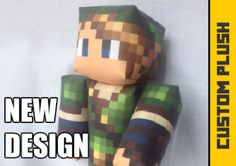 NEW! Custom Minecraft inspired Toy Using Skin of your Choice! – Crafting Nerdy