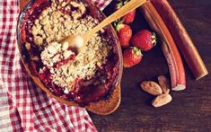 This Rhubarb Strawberry Apple Crisp with oat topping is a perfectly sweet-tart summer dessert to pair with a big scoop of dairy-free vanilla ice cream. Dairy Free Whipped Topping, Dairy Free Vanilla Ice Cream, Lactose Free Cream, Apple Crisp No Oats, Apple Cinnamon Oatmeal, Raspberry Crisp, Thai Green Curry Recipes, Cooking With Coconut Oil, Apple Crisp Recipes