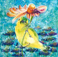 Watercolor Bird art  ORIGINAL Watercolour Wall Art Painting