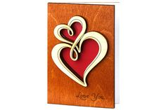 Valentine Card Love Wood Card Funny Valentine Card  by CardsWooden