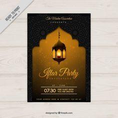 poster do partido ramadan Amarelo Vetor grátis