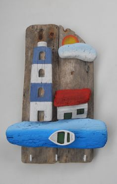 Easy wooden craft ideas that you can do at home. A pleasant air to your home with 40 easy wooden craft ideas that we will share with you Source by mehtapcevikcice Driftwood Projects, Driftwood Art, Diy Projects, Beach Crafts, Summer Crafts, Recycled Decor, Deco Marine, Creation Deco, Wood Creations