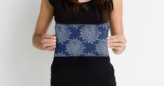 Blue and White Mandalas Studio Pouches