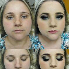 Um pouco do meu trabalho!!! Amo maquiagem  Make - antes e depois