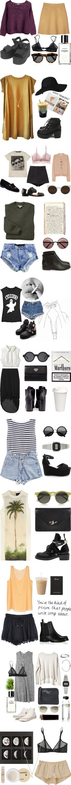 """grunge"" by pearl-roses ❤ liked on Polyvore"
