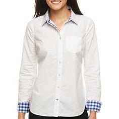 jcp™ Long-Sleeve Poplin Shirt - jcpenney