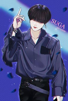 Suga fanart - k-fashion - anime Bts Chibi, Bts Anime, Anime Guys, Anime Angel, Bts Suga, Arte Do Kawaii, Animé Fan Art, Japon Illustration, Fanart Bts
