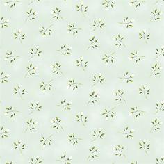 Tecido Estampado Romance - Botãozinho Romance Verde Chá - 0,5 M x 1,5 M
