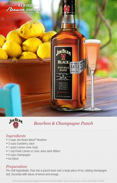 Spice up your next brunch with Jim Beam's Bourbon and Champagne Punch