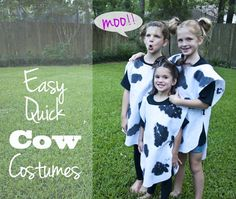 Quick and Easy Cow Costumes!