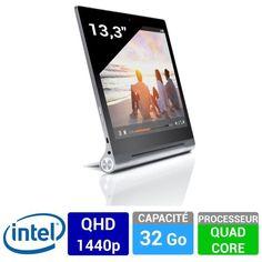 """Lenovo YOGA Tablet 2 PRO 13,3"""" 1380 WiFi pas cher, promo tablette prix promo Tablette tactile Cdiscount 399 € TTC au lieu de 599.19 € Quad, Lenovo Yoga, Printers, Wifi, Tablet Computer, Central Processing Unit, Quad Bike"""
