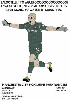 Joe Hart Celebration vs QPR Man City by FootyIllustrations, £8.99