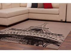 Haal Parijs in je woonkamer door dit karpet met Eiffeltoren design.