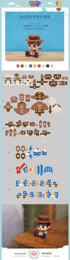 Easy Perler Bead Patterns, Perler Bead Templates, Diy Perler Beads, Perler Bead Art, Hamma Beads 3d, Hamma Beads Ideas, Pearler Beads, Hama Beads Disney, Pixel Beads
