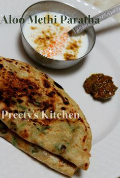 Aloo Methi Paratha (Indian Bread Stuffed With Potatoes & Fenugreek Leaves)