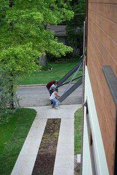 Concrete Runner (ribbon) driveway