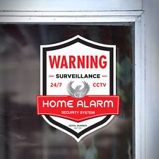BRINKS Home Store Security Alarm System Door Window Decals - Window stickers for home security
